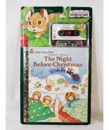 Little Golden Book The Night Before Christmas Cassette Tape & Book Cleme... - $8.90