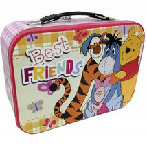 Walt Disney Winnie the Pooh Best Friends Large Carry All Tin Tote Lunchb... - $14.50