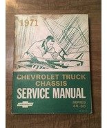 1971 Chevrolet Truck Chassis Service Manual Series 40-60(1970, PB) - $14.84
