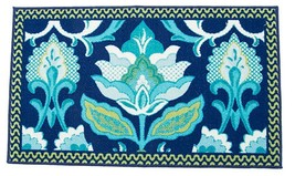 """Accent Printed Rug (Nonskid Back) (18"""" X 30""""), Flowers Isadora By Waverly - $16.82"""