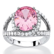 PalmBeach Jewelry 5.77 TCW Sim. Pink Tourmaline CZ Platinum over Silver ... - $16.20