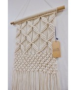 Gentle Crafts BoHo Macrame Hanging Wall Decor: Decorative Wall Art Cotto... - £17.98 GBP