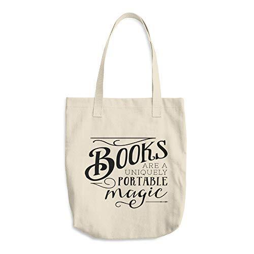 Cotton Tote Bag - Book Lovers Canvas Bags - Unique Gifts Birthday Christmas
