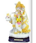 Unbreakable PVC RADHA KRISHNA with COW Show piece / IDOL / Statue. GIFT ... - $22.99