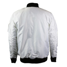 Contender Men's Premium Water Resistant Padded Zip Up Flight Bomber Jacket White image 2