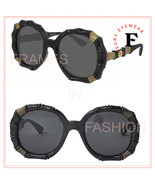GUCCI 0659 Round Bamboo Runway Style Black Bronze Sunglasses GG0659S 001 - $425.70