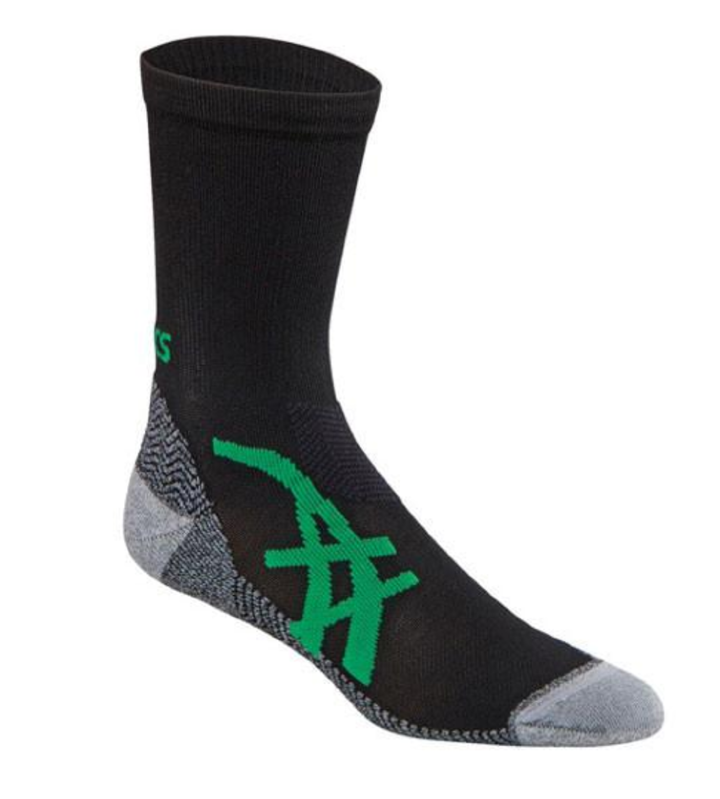 Asics FujiTrail Mini Crew Cut Socks Black L Large Size 9.5-11.5 Men & 10+ Women