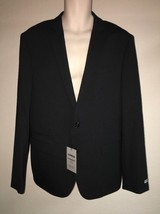 Express Blazer Suit Jacket Mens 42 Reg Black Stripe Photographer Fitted ... - $52.25