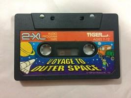 Vtg 1992 Tiger 2-XL TALKING ROBOT Cassette Tape Voyager To Outer Space - $23.36