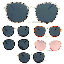 Womens Double Rim Retro Oversize Round Fashion Sunglasses - $12.95