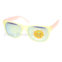 Pastel Matte Finish Sunglasses Frame Change Colors in the Sun Mirror Lens - $7.87+