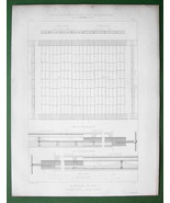 ARCHITECTURE 3 PRINTS : Iron Tie Bar Floor Construction Various Systems - $6.74