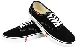 NEW LEVI'S MEN'S CLASSIC PREMIUM CASUAL SNEAKERS SHOES RYLEE 514293-01A BLACK
