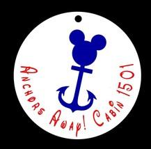 Set of 10 Disney Cruise Fish Extender Favor Tags - Anchors Away! Blue an... - $1.98