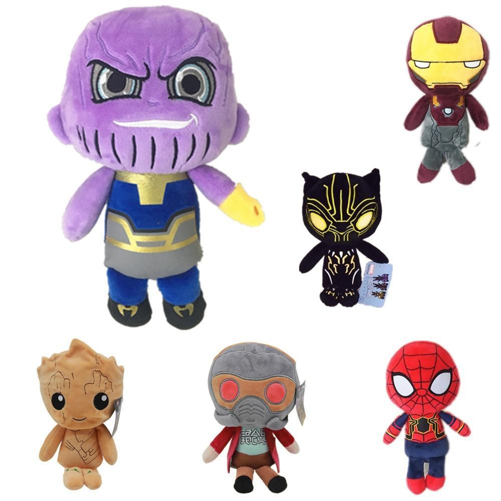 20cm Marvel The Avengers Plush Toys Iron Man Deadpool Thanos Spiderman Stuffed - $5.99
