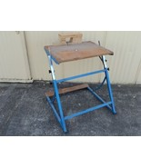 Professional Adjustable Work Bench Blue/Gray Adjusts 30in to 42in High M... - $30.76