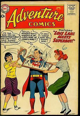 ADVENTURE COMICS #261-1959-SUPERBOY-ORIGIN AQUAMAN-RARE VG-