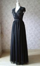 BLACK Long Maxi Tulle Skirt High Waisted Black Tulle Skirt Plus Size Black Skirt image 8