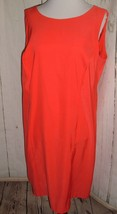 Dressbarn Woman's Sleeveless Orange Shift Dress Size 14 Festive Holiday ... - $19.77