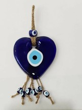 HEART SHAPE 4'' Nazar Evil Eye Wall Hanging Bad Luck Protection ''' ON S... - $11.39