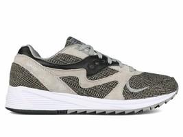 Saucony Men's Grid 8000 CL HT Gray Black Herringbone Running Shoes S70352-1 NIB image 2