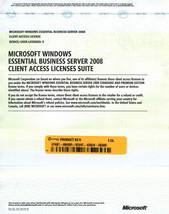 Microsoft Windows Essential Business Server 2008 5 User Device CAL No media - $24.74