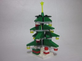 LEGO Christmas tree custom build with green slopes & presents, all new p... - $9.99