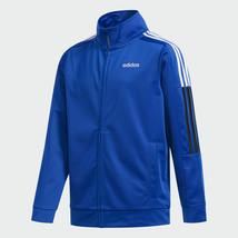 "adidas Kids ""Core Jacket"" Full-Zip Blue / White and Black Stripes - $37.99"