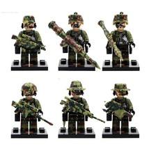 6 pcs Police Falcon Commandos Marine Corps minifigure blocks toys Toy fo... - $14.00