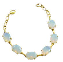 bewitching Fire Opal CZ Gold Plated White Bracelet genuine general US gift - $23.50