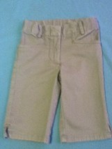 Size 4 Austin capri pants uniform  khaki long shorts Girls - $9.00