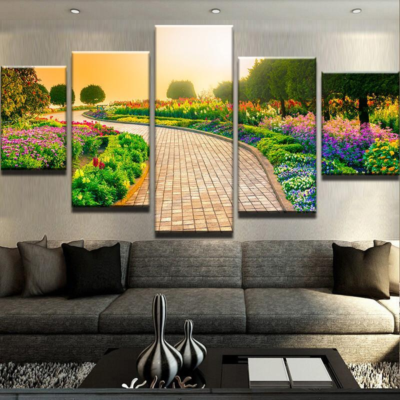Garden walkway : paintings and wall art - www.pureclipart.com