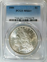 1886 Silver Morgan Dollar PCGS MS 64+ Plus Nice Mirrors Luster Graded Coin  - $114.99