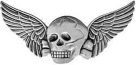 Death Wings Large Badge Metal Pin Skull And Wings - $9.89