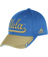 Adidas NCAA College UCLA BRUINS BLUE KHAKI Football Curved Hat Cap Size... - $20.00