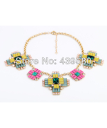 Allah Women Fashion Colorful Acrylic Necklace Jewelry - $32.00