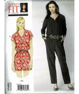 Vogue Pattern V1483 Today's Fit Jumpsuit Cat Suit Short or Long Length A... - $8.91