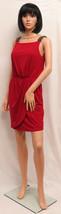 JESSICA SIMPSON Tango Red Sleeveless Bead Shoulder Party Dress 4 NWT - $69.00