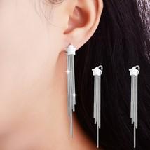 New Fashion Stars Long Earring Female Simple Ear Line Tassel Earrings Fo... - $8.13