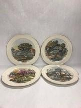 11 inch Pickard set 4 Currier Ive plates winter summer autumn spring  Vi... - $24.13