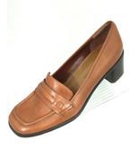 "Bandolino ""Bdshandra"" Womens 6M Brown Leather Chunky Heel Loafer Shoe - $20.53"