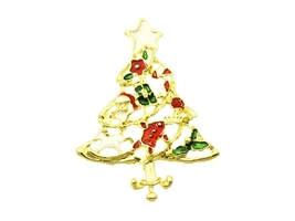 Goldtone Christmas Tree Pin and Brooch - $12.95