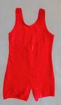 Simply Mine - Red Velvety Unitard Polyester Girls Size 4-6 - $5.99