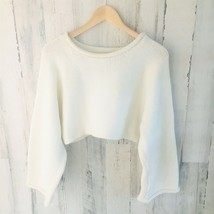 NWOT $69 UO Silence+Noise Crop Wide Dolman Sleeve Chunky Knit Sweater Cr... - $38.58