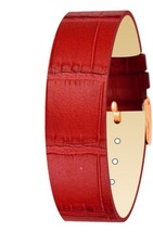 Moog Paris Red Calf Leather Bracelet for Women, Mat Alligator Pattern, P... - $41.74