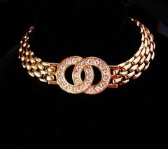 """Eternity bracelet / gold Friendship jewelry / 8"""" long bracelet /  Annive... - $45.00"""