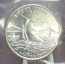 2001-D Rhode Island State Quarter MS65 in the Cello #451 - $1.59