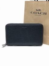 NWT Coach F87104 Men's Double Zip Travel Organizer Wallet Leather Black ... - $149.56