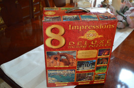 8 Sure-Lox  2005 Impressions Deluxe Jigsaw Puzzles 5500 Total Pieces 1 C... - $19.60