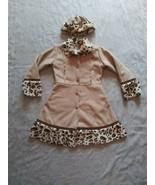 Girls American Widgeon Leopard Print Coat And Hat Size 12 - $56.09